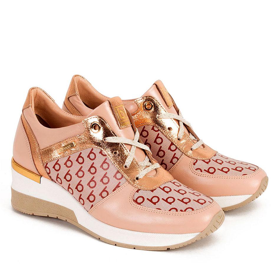 Różowe buty sportowe z nadrukiem