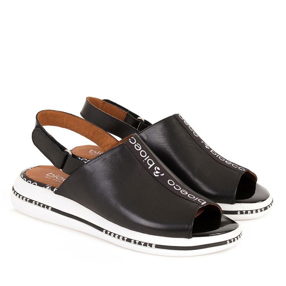 Czarne sportowe sandały
