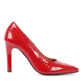 Czerwone eleganckie szpilki